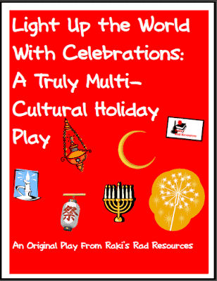 Free resource - Light up the world with celebrations holiday readers theater or play script to teach students about holidays from around the world - from Raki's Rad Resources.