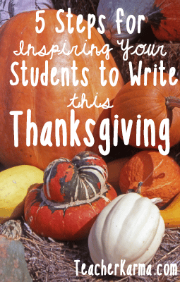 Inspirational Writing Printables for Thanksgiving