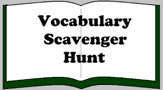 Scavenger Hunt with Vocabulary Words