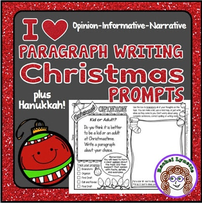 Christmas Writing Prompts.Christmas And Hanukkah Writing Prompts Classroom Freebies