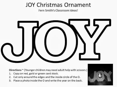 Fern Smith's FREE JOY! Christmas Children's Picture Ornament