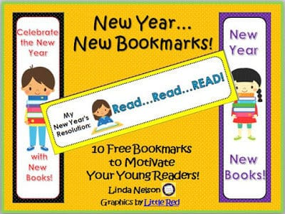 Motivate Your Readers with New Year's Bookmarks
