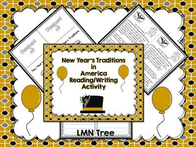 New Years Traditions Reading and Writing Activities