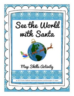 See the World with Santa Map Skills Activity