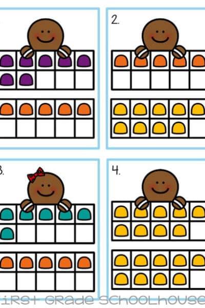 Christmas Center Gingerbread Ten Frames