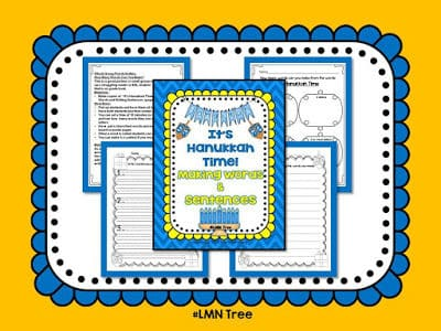 It's Hanukkah Time: Making Words and Sentences and Dreidle Book