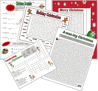 https://www.teacherspayteachers.com/Product/Christmas-Word-Puzzles-107342
