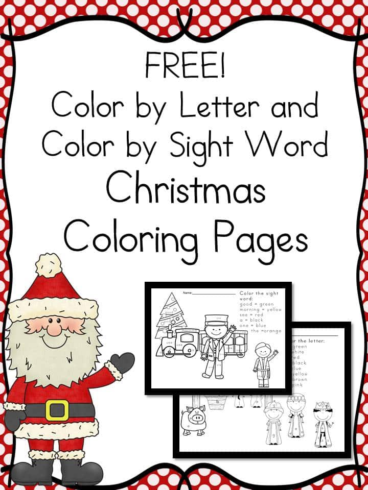 Free Color by the Letter and Color