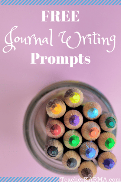 Journal Writing Prompts & Writing Checklist FREEBIE
