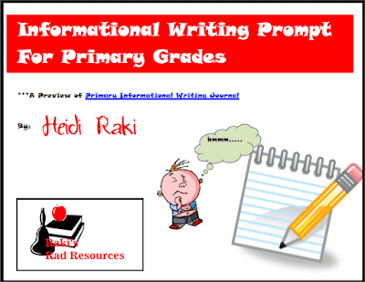 Free informational writing prompt from Raki's Rad Resources.