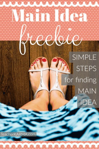 Simple Steps for Finding Main Idea FREEBIE