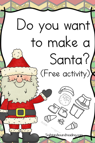 Do you want to build a Santa? Free Activity