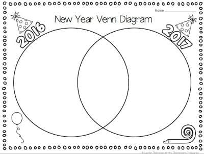 Free New Year Reflection/Goals Venn Diagram