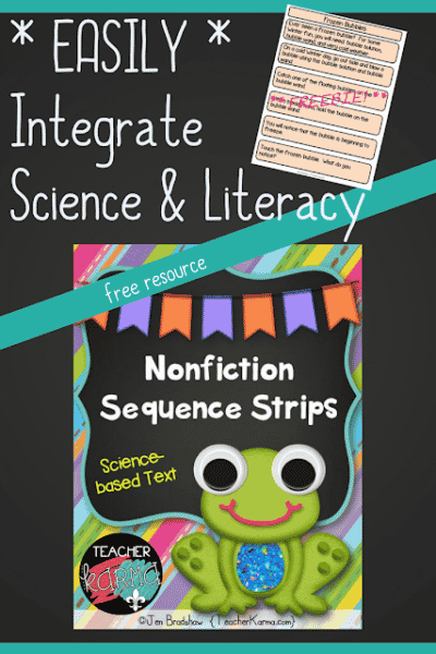 Integrate Science & Literacy – Nonfiction Sequence Strips FREEBIE
