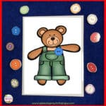 Corduroys Buttons- A Preschool Matching Activity and School-wide Hunt!