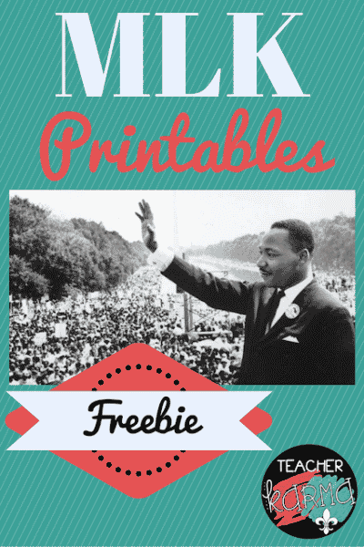 Martin Luther King, Jr. Printables