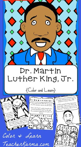MLK Color & Learn Resource