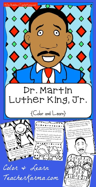 Martin Luther King, Jr. interactive book.
