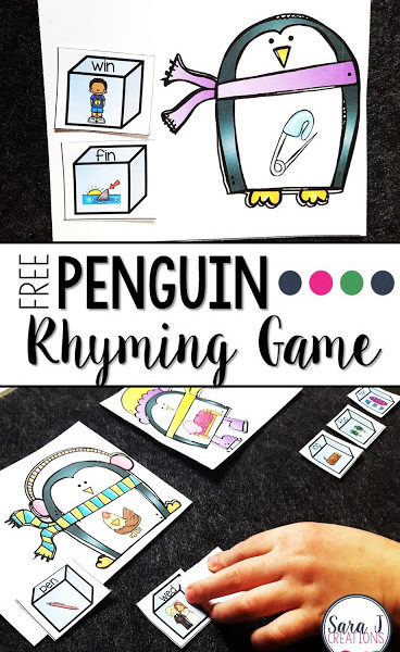 Penguin CVC Rhyming Game
