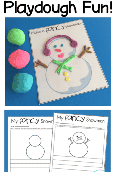 Snowman Playdough Mats