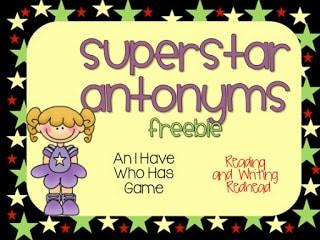Superstar Antonyms Freebie!