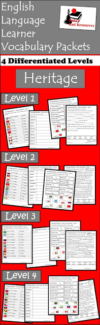 "Free differentiated vocabulary packet for English Language Learners. This packet teaches the verb ""to be"" as well as how to say countries of the world in English. Free Resource from Raki's Rad Resources."