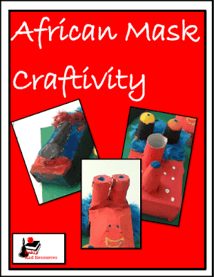 Free African mask craftivity to help students learn about African cultures. Free download from Raki's Rad Resources.