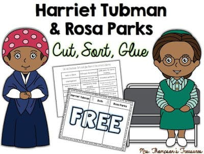 Free Black History Month Activity – Comparing Harriet Tubman & Rosa Parks