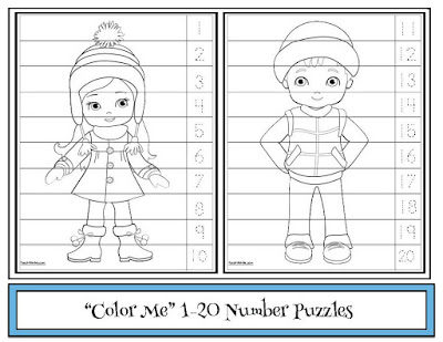 Color-Me Number Puzzles