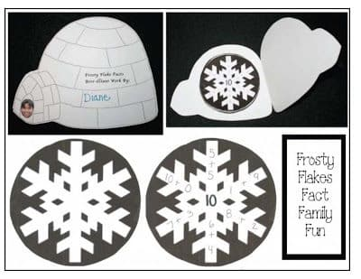 """Frosty Flakes"" (Math Fact Familes) Igloo Craftivity"