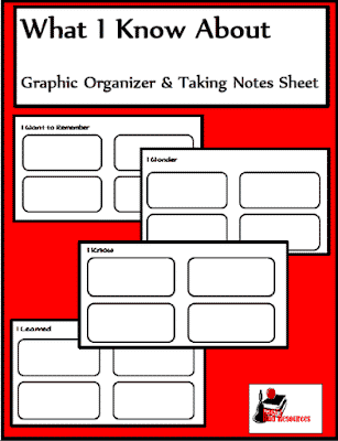 Free graphic organizers for note taking - from Raki's Rad Resources.