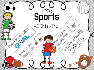 FREE Sporty Bookmarks