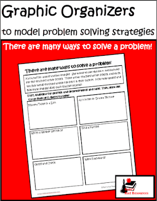 Free problem solving graphic organizer to help students compare and contrast different problem solving strategies - from Raki's Rad Resources.