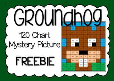 Free 120 Chart Groundhog Day Mystery Picture