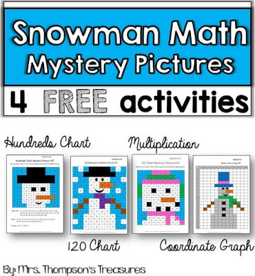 Free Snowman Math – Mystery Pictures
