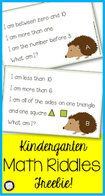 Kindergarten Number Sense Riddles