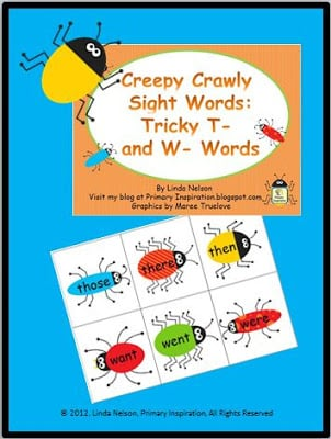 Extra Practice with Those Tricky T- and W- Sight Words