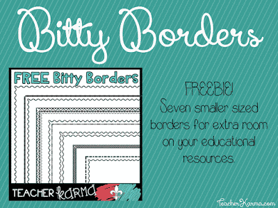 FREE Bitty Borders for Teachers