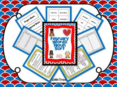 """Fly into February with a """"February"""" Word Sort"""