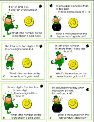 Leprechaun Math Riddles