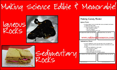 Free making edible rocks science activity - great lesson for the rock cycle - from Raki's Rad Resources.