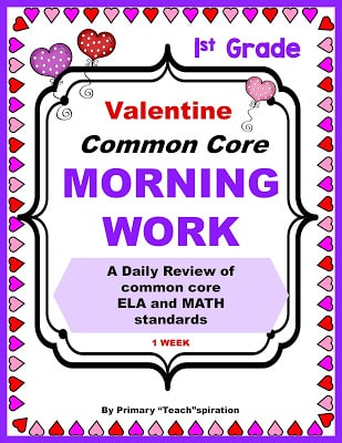 LOVE THESE VALENTINE MORNING WORK SETS!