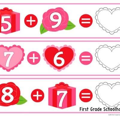 Valentine's Day Math Facts