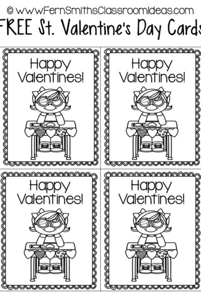Fern Smith's FREE St. Valentine's Day Printable Cards
