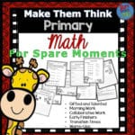 Math Challenges for Grades 1-3 – Great Morning Work, Extensions, Fast Finishers, Homework