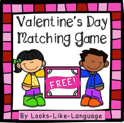 Valentines Day Open Ended Game Freebie- Looks Like Language