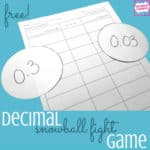 free comparing decimals game
