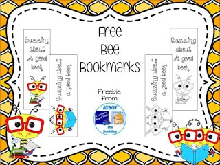 Bee Happy 4 Free Bee Bookmarks