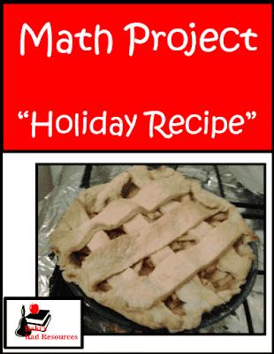 Free Holiday Recipes Math Project
