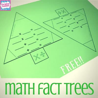 Math Facts Freebie